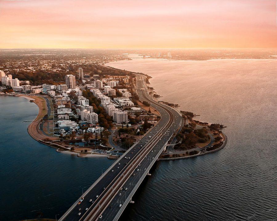 South Perth drone photo